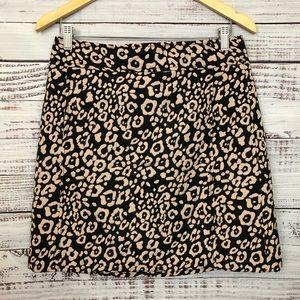 LOFT Leopard Print Skirt - NWT